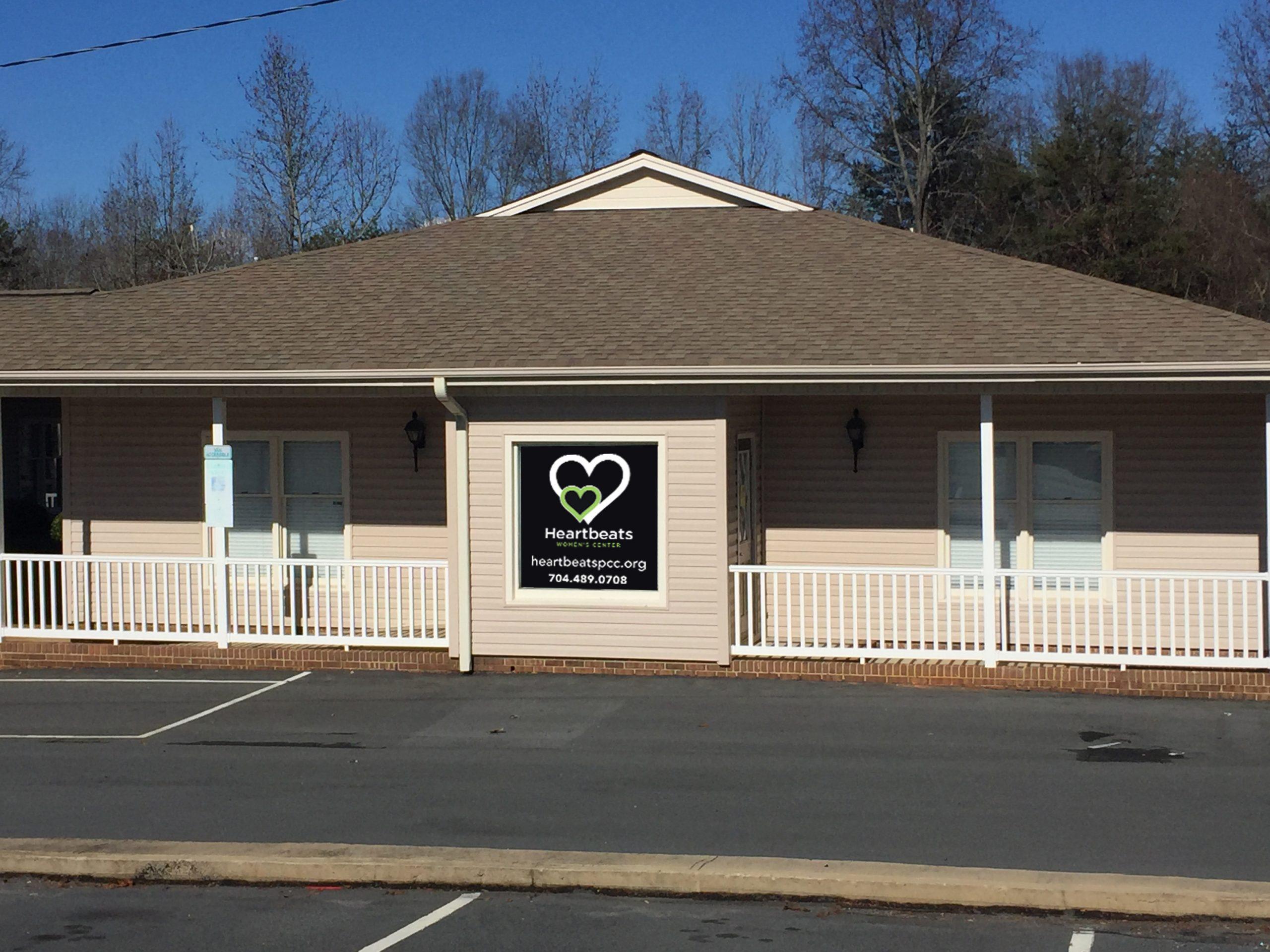 Heartbeats window signage_Close Up